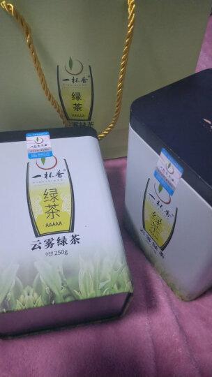 一杯香2020新茶明前云雾绿茶浓香型茶叶2罐共500g散装日照充足春茶礼盒装 晒单图