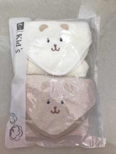 三利 有机棉儿童毛巾2条装 A类安全标准婴幼儿用品 纯棉面巾 宝宝洗脸巾 26×52cm 绣花小熊 晒单图