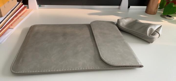 泰克森12电脑包air11苹果笔记本Macbook内胆包pro13皮套mac保护套15英寸手提 二代微绒-竖款绅士灰 2016年新款pro13.3英寸 晒单图