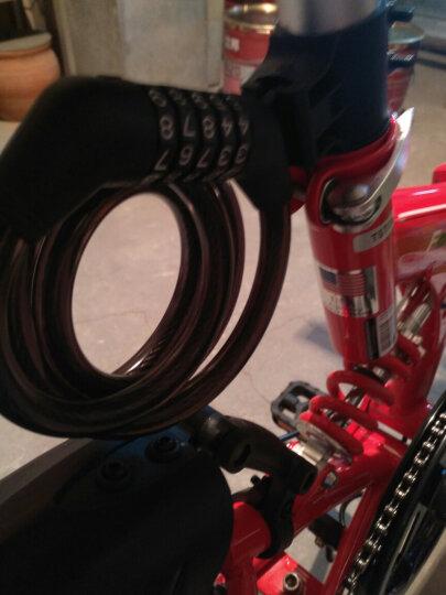 大行(DAHON)自行车锁密码锁山地车锁带折叠自行车锁防盗锁5位密码 黑色 晒单图