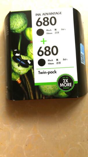 惠普(HP)X4E79AA 680双黑墨盒套装 (适用HP DeskJet 2138/3638/3636/3838/4678/4538/3777/3778/5078/5088) 晒单图