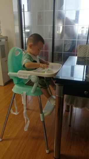 Tobaby 宝宝餐椅婴儿便携儿童餐桌椅多功能可调节 白绿色餐椅【赠送坐垫】 晒单图