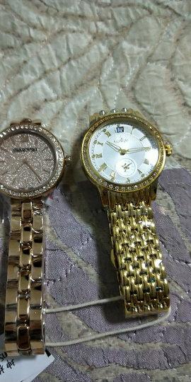 坤格(Kronsegler)德国进口手表 元首夫人系列女士手表镶钻防水石英表 白盘金壳金色钢带 KS719.SG 晒单图