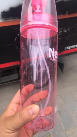 创意礼品 喷雾水杯 创意实用运动便携式水杯 节日520礼物 送女友朋友同事儿童生日礼物 粉色 晒单图