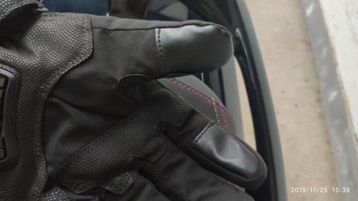赛羽SCOYCO摩托车手套冬季保暖骑士骑行手套防滑防摔碳纤维护壳四季机车手套男可触屏MC20 MC15B-2(黑色)XL 晒单图