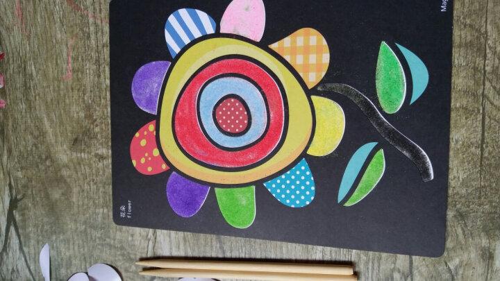 芙蓉天使TS8001沙画套装 彩砂子沙胶画瓶纸绘画工具 幼儿园手工画DIY制作材料包 3-6岁儿童创意玩具 10色26张 晒单图