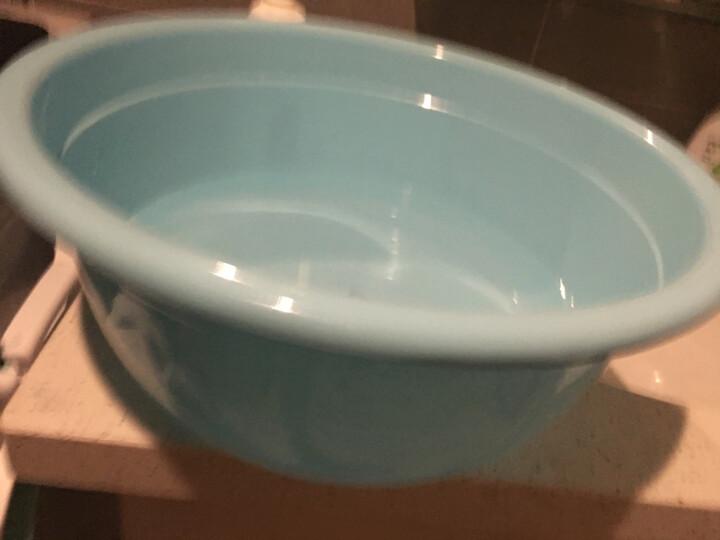 龙士达44CM洗脸盆 大号耐摔清洁拖把盆 加厚塑料洗菜洗衣洗脚盆子 LJ-0101蓝 晒单图