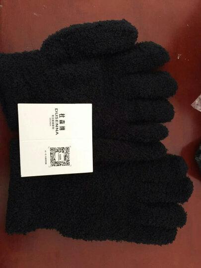 杜森纳(DUSENNA) 毛线手套男冬保暖骑车防寒劳保手套针织毛线女士手套分指 商家发货-黑色 晒单图