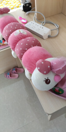 爱贤 可爱卡通毛毛虫毛绒玩具 虫子公仔布娃娃 男朋友抱枕玩偶生日礼物 65厘米花色毛毛虫 晒单图