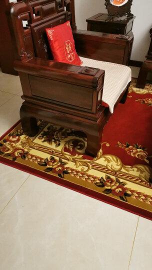 万腾 地毯客厅欧式大沙发茶几地毯卧室床边毯加厚高密度纯手工立体雕花红色办公室地毯 1255W驼色 1200*1700mm 晒单图