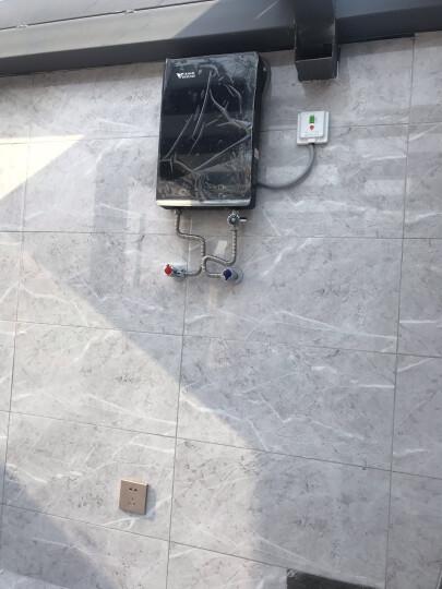 汉诺威(hannover)即热式电热水器电小型家用速热恒温即热淋浴漏电防护立式薄无水垢DSC-MH2 黑色 8.8KW 晒单图