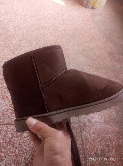 悍凯 冬季棉鞋 男士保暖雪地靴 加绒短靴 男款EBGcvxAQRk 蓝色 C码(适合39-40码 晒单图