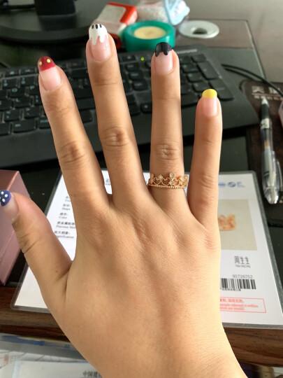 周生生 V&A Bless 18K金戒指红色黄金戒指钻石皇冠戒指 求婚戒指 87041R 17圈 晒单图