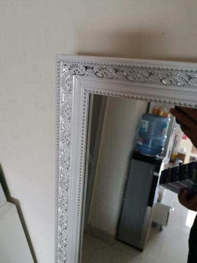 雕图腾 穿衣镜 全身镜子 挂墙试衣镜实木落地壁挂贴墙梳妆大镜子 田园白150*40 其他 晒单图