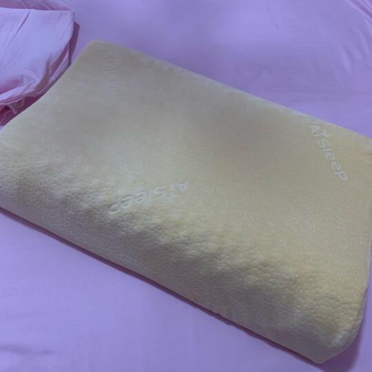 睡眠博士(AiSleep)枕芯 释压按摩颗粒泰国进口天然乳胶枕 柔弹透气波浪颈椎枕头 晒单图