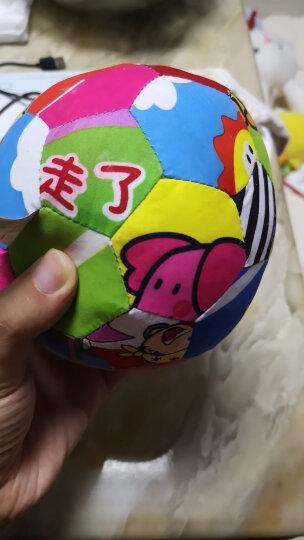 LALABABY/拉拉布书 启智布球 内置摇铃铃铛 0-3岁婴儿手抓球 布玩 五彩感官球 晒单图
