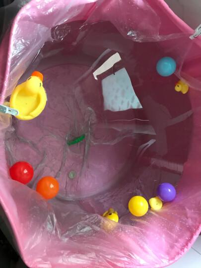 诺澳 新生幼婴儿游泳池家用 大号儿童戏水海洋球池 可调支架游泳桶免充气宝宝洗澡浴桶 70x80cm粉色/底部夹棉款-均码脖圈套餐 晒单图
