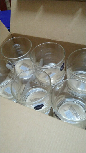 乐美雅 Luminarc 圆形伊斯朗无铅玻璃水杯 饮料茶杯啤酒杯 300ml 6只装 E5884 晒单图