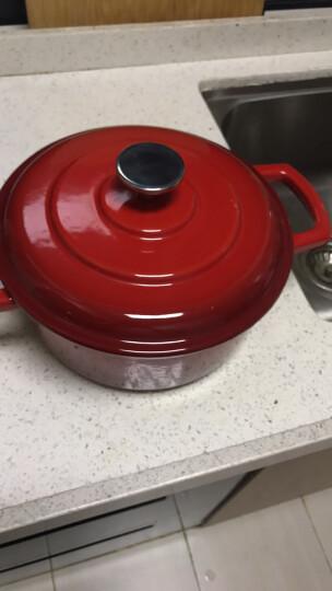 佳佰 珐琅锅铸铁汤锅平底双耳煲汤炖肉22cm(电磁炉煤气灶通用)红色 晒单图