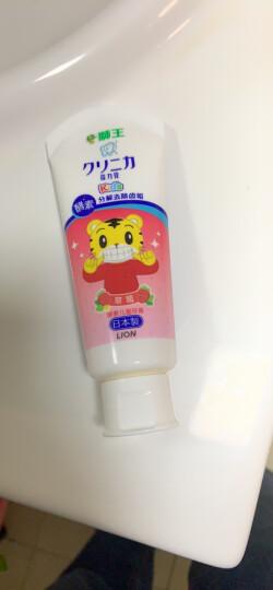 狮王(Lion)小狮王套装(3-6岁软毛牙刷×2+儿童牙膏40g(草莓+桔子+葡萄)) 晒单图