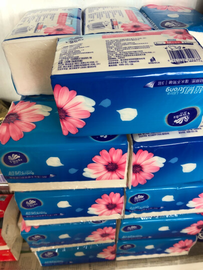维达(Vinda) 抽纸 超韧3层150抽软抽*18包(大规格) 整箱销售 晒单图