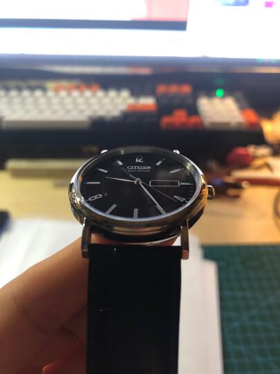 西铁城(CITIZEN)手表 光动能简约黑皮表带商务休闲男表BM8240-03E 晒单图