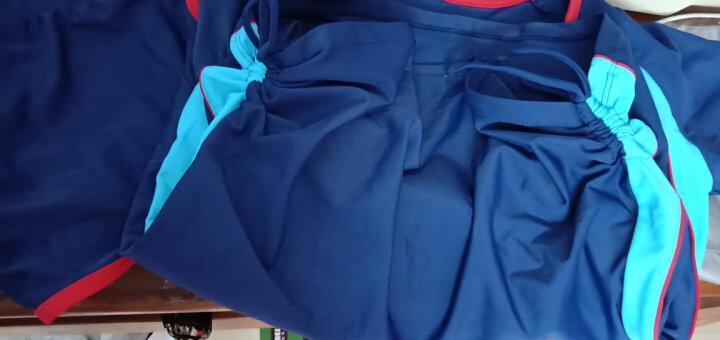 羽克(Yuke) 【送泳镜三件套】泳衣女分体平角运动款学生游泳衣遮肚显瘦保守大码温泉女生防走光泳装 7745黑绿色 3XL(建议体重125-145斤) 晒单图