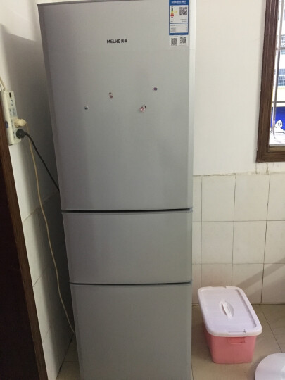 美菱(MELING)206升中门软冷冻 家用节能省电 家用三门冰箱 租房优选 小冰箱 亚光银 BCD-206L3CT 晒单图