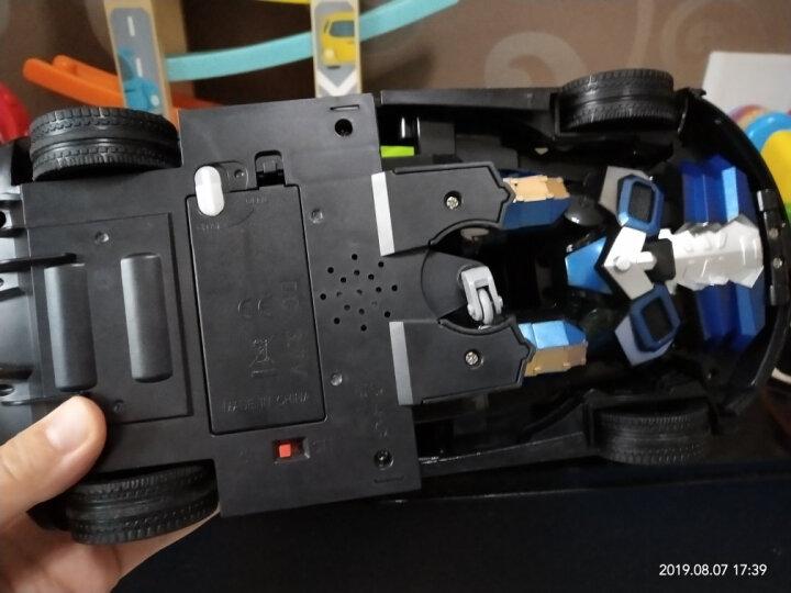 佳奇(JIAQI)TT667 兰博基尼毒药汽车机器人(红色)仿真内饰动感音效 智能遥控一键变形车模玩具 晒单图