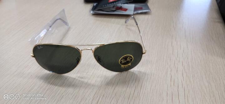 RayBan 雷朋太阳镜墨镜男女款蛤蟆镜复古气质RB3026 L2846金色镜框绿色镜片 尺寸62 晒单图