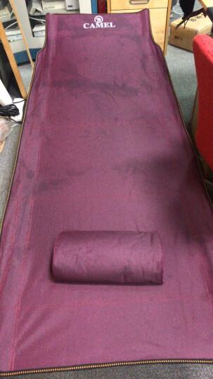 【骆驼】户外折叠床单人床躺椅 便携午休床 静音办公室午睡床 加宽行军床 陪护床简易床沙滩床 小号178酒红色(平头款) 晒单图
