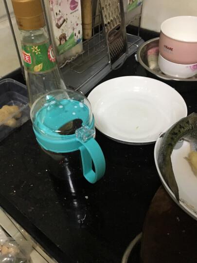 【三件7折】茶花大号带盖玻璃油壶防漏油罐醋壶 酱油瓶调味瓶厨房用品 550ml蓝色(大号1个) 晒单图