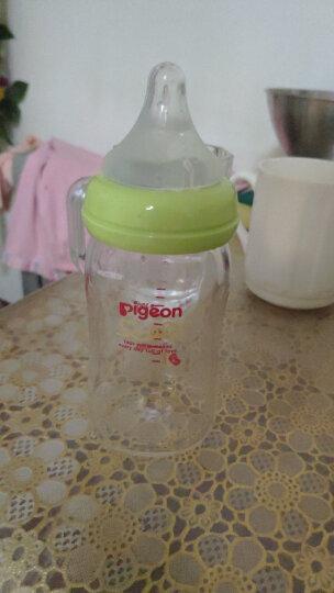 贝亲(Pigeon)宽口玻璃奶瓶160ml 婴儿奶瓶SS号奶嘴(新生儿)绿色  原装进口 晒单图