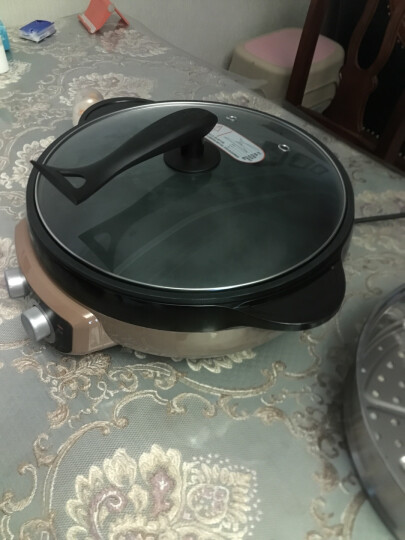 苏泊尔(SUPOR)多用途锅电火锅电热锅电饼铛煎烤机电蒸锅 棕色 晒单图