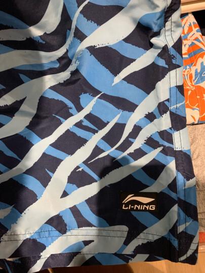 李宁(LI-NING)沙滩裤 五分泳裤 男士度假温泉泳衣 沙滩运动短裤9212 XL码 晒单图