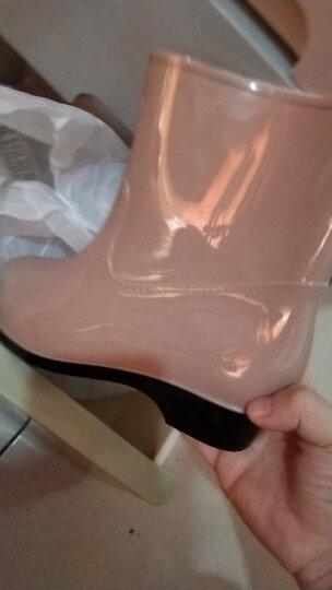 回力雨鞋女士短筒雨女式防水鞋中筒成人水靴胶鞋套鞋 墨绿 40 晒单图