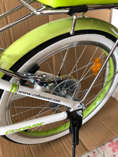 永久7变速20寸折叠自行车铝合金车架男女式成人轻便学生单车城市通勤车 YE2015 绿色 晒单图