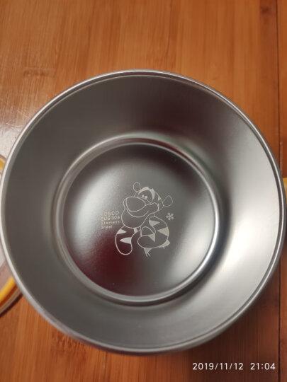 迪士尼(Disney)维尼儿童不锈钢餐具 儿童餐具套装 宝宝饭碗叉勺水杯 婴儿辅食活力四件套 韩国进口 晒单图