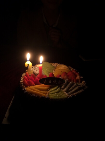 生日蛋糕预定水果蛋糕奶油巧克力网红定制儿童蛋糕同城配送全国配送当天送达广州深圳上海北京成都武汉南京 B款 8寸 晒单图