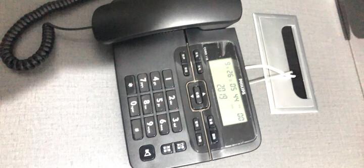 飞利浦(PHILIPS)电话机座机 固定电话 办公家用 来电显示 双接口 免电池 CORD118黑色 晒单图