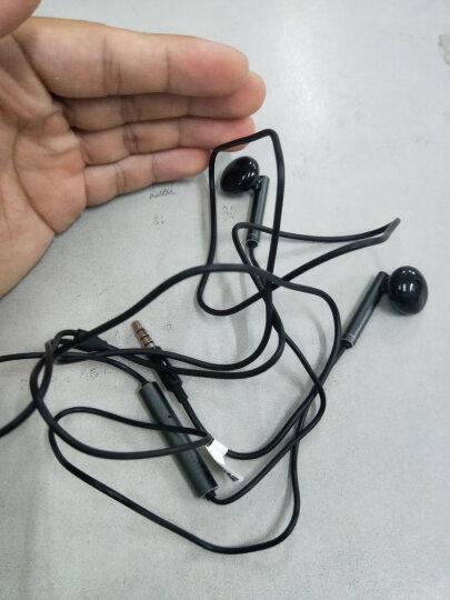 华为(HUAWEI)原装耳机/半入耳式耳机/三键线控/带麦克风/原装手机耳机 黑色 金属版 AM116 晒单图