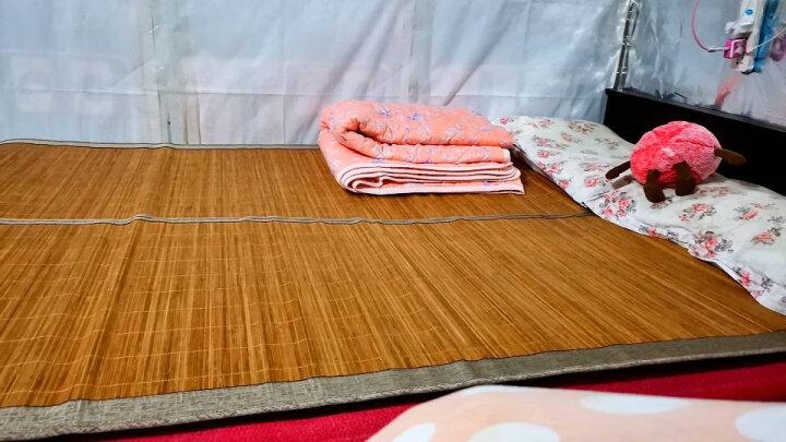 简丽(janlee)凉席竹席 夏季碳化双面学生宿舍单人1.35米床可折叠空调席子 135*195cm(不含枕套) 清凉席 晒单图