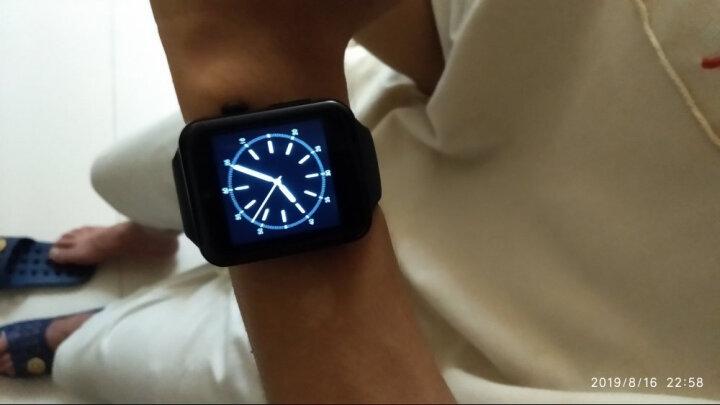 祎微 【包邮】新款初中生高中生男女学生电话手表可插卡打电话智能手表闹钟计步器睡眠检测久坐提醒 黑色 晒单图