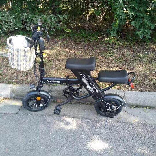 CoolPower 锂电池折叠迷你电动车 城市便携电瓶车自行车 代驾代步成人电动滑板车 黑色双人30-35公里 晒单图