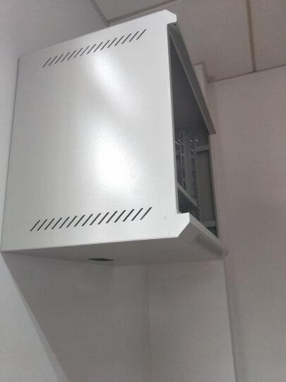 神州网络机柜 6u9u12u壁挂式墙柜交换机机柜弱电监控小型机柜升级加厚四门 M6412 12u标准款550*400*600白色 晒单图