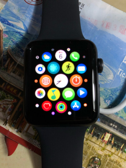 Apple Watch Series 3智能手表(GPS款 42毫米 深空灰色铝金属表壳 黑色运动型表带 MTF32CH/A) 晒单图
