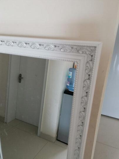 雕图腾 穿衣镜 全身镜子 挂墙试衣镜实木落地壁挂贴墙梳妆大镜子 香槟银150*40 其他 晒单图