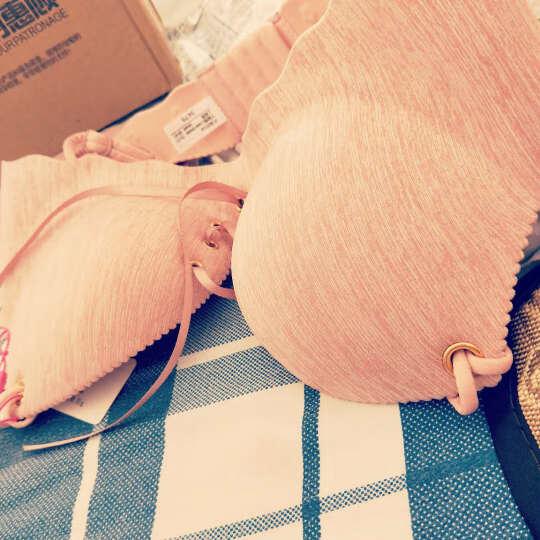 香妮有约 内衣文胸套装一拉聚拢调整型无钢圈小胸内衣女修复性感胸罩 宝蓝(单文胸) 38B=85B 晒单图