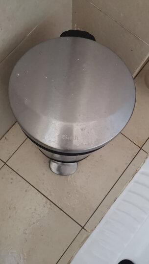 得力(deli)时尚脚踏不锈钢垃圾桶 液压缓降 低噪防臭 5L 晒单图