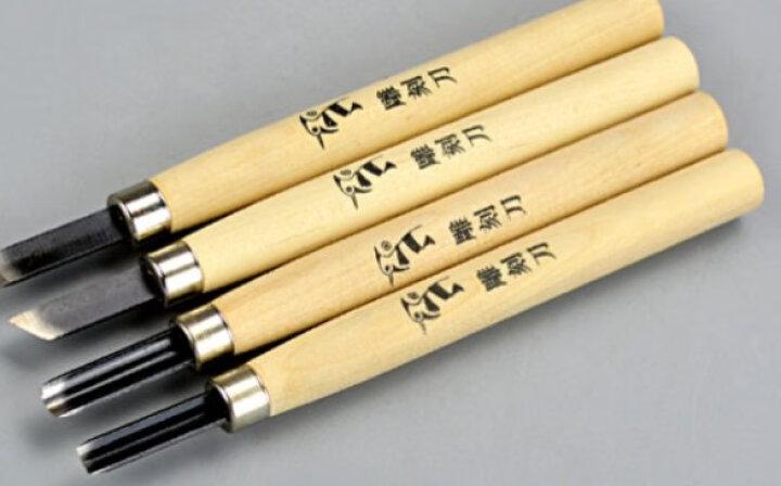 啄木鸟木刻雕刀雕刻刀套装木工工具橡皮印章手工刀 4件套刻刀 (PM124) 晒单图